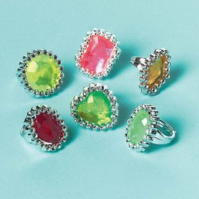 Jewel Rings (18 Count)