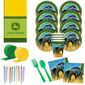 John Deere Deluxe Tableware Kit (Serves 8)