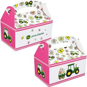 John Deere Pink Empty Favor Box (Each)