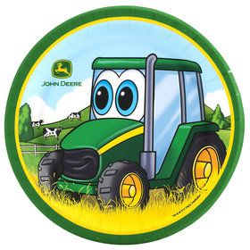 Johnny Tractor Dessert Plates (8 Count)