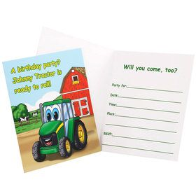 Johnny Tractor Invitations (8 Count)
