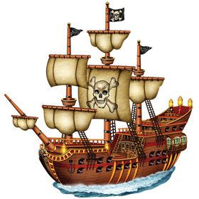 Jointed Pirate Ship Cutout
