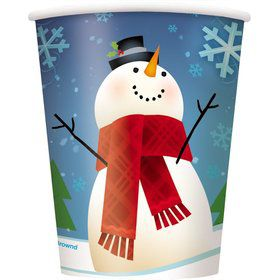 Joyful Snowman 9oz Cups (8 Pack)