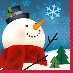 Joyful Snowman Beverage Napkins (16 Pack)