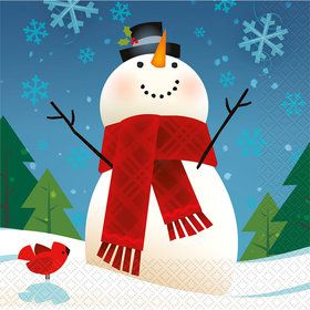 Joyful Snowman Luncheon Napkins (16 Pack)