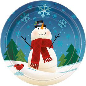 Joyful Snowman Luncheon Plates (8 Pack)