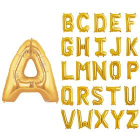 "Jumbo 40"" Gold Foil Letter Balloon (Each)"