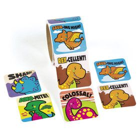 Jumbo Dinosaur Sticker Roll (100 Stickers)