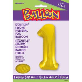 Jumbo Gold Foil Balloon-Number 1