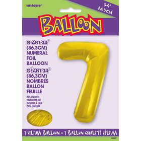 Jumbo Gold Foil Balloon-Number 7