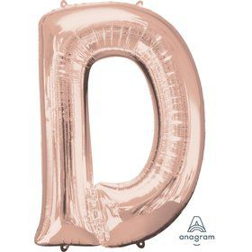 Jumbo Rose Gold Letter 33 Foil Balloon - D