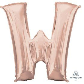 Jumbo Rose Gold Letter 33 Foil Balloon - W