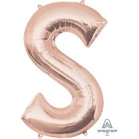 Jumbo Rose Gold Letter 35 Foil Balloon - S