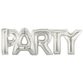 Jumbo Silver Foil Balloons-PARTY
