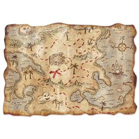 Jumbo Treasure Map Cutout