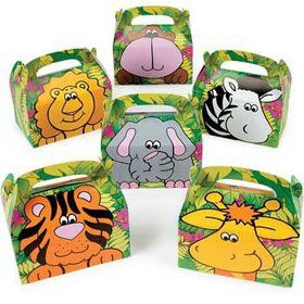 Jungle Animal Favor Box (12-pack)