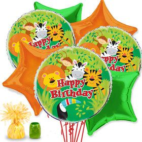 Jungle Animals Balloon Bouquet Kit
