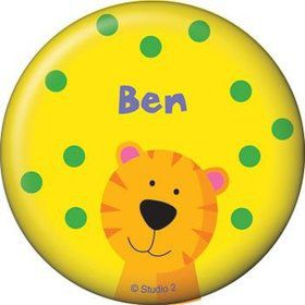 Jungle Animals Personalized Button (each)