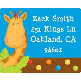 Jungle Birthday Personalized Address Labels (sheet of 15)