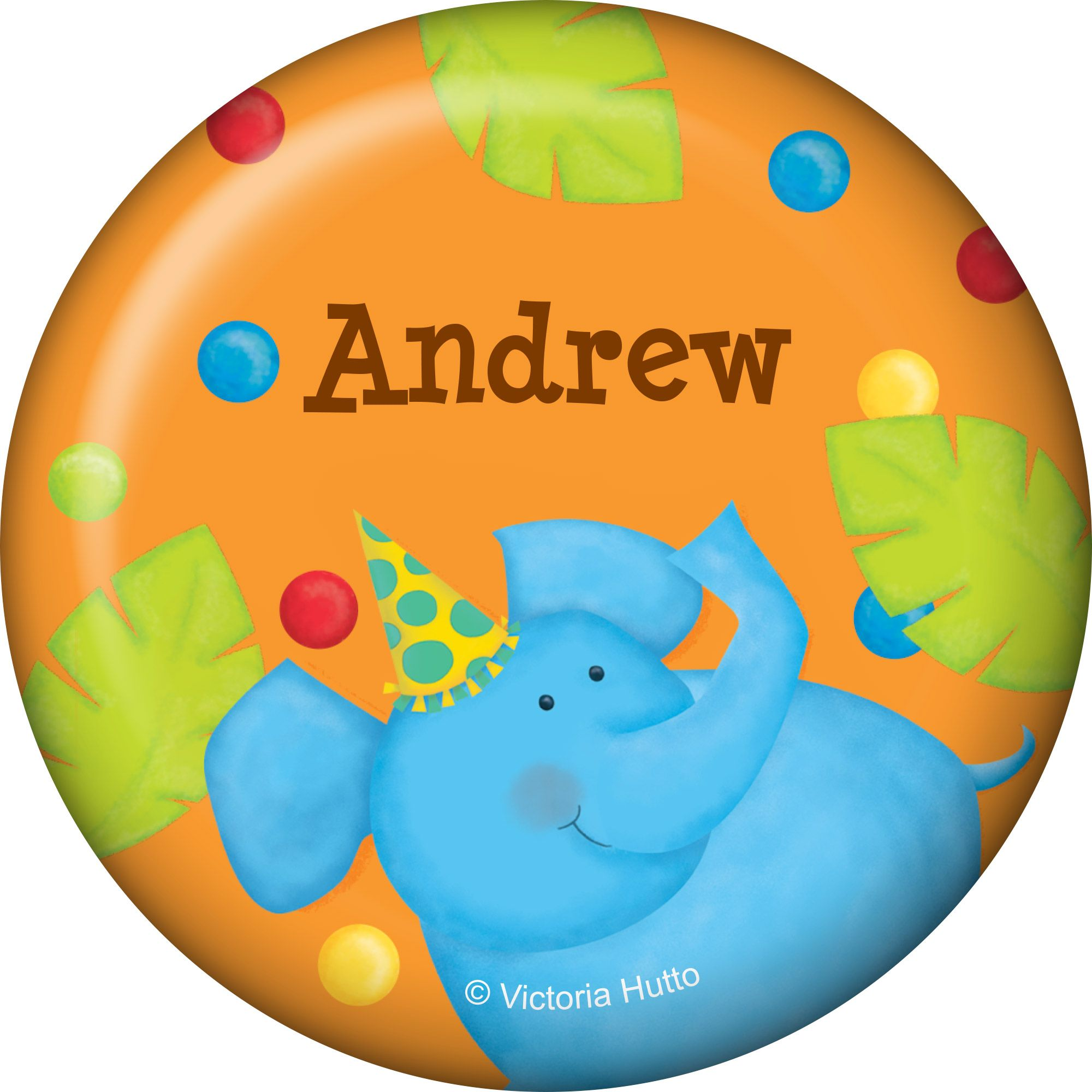 Jungle Birthday Personalized Button (each) BB101763