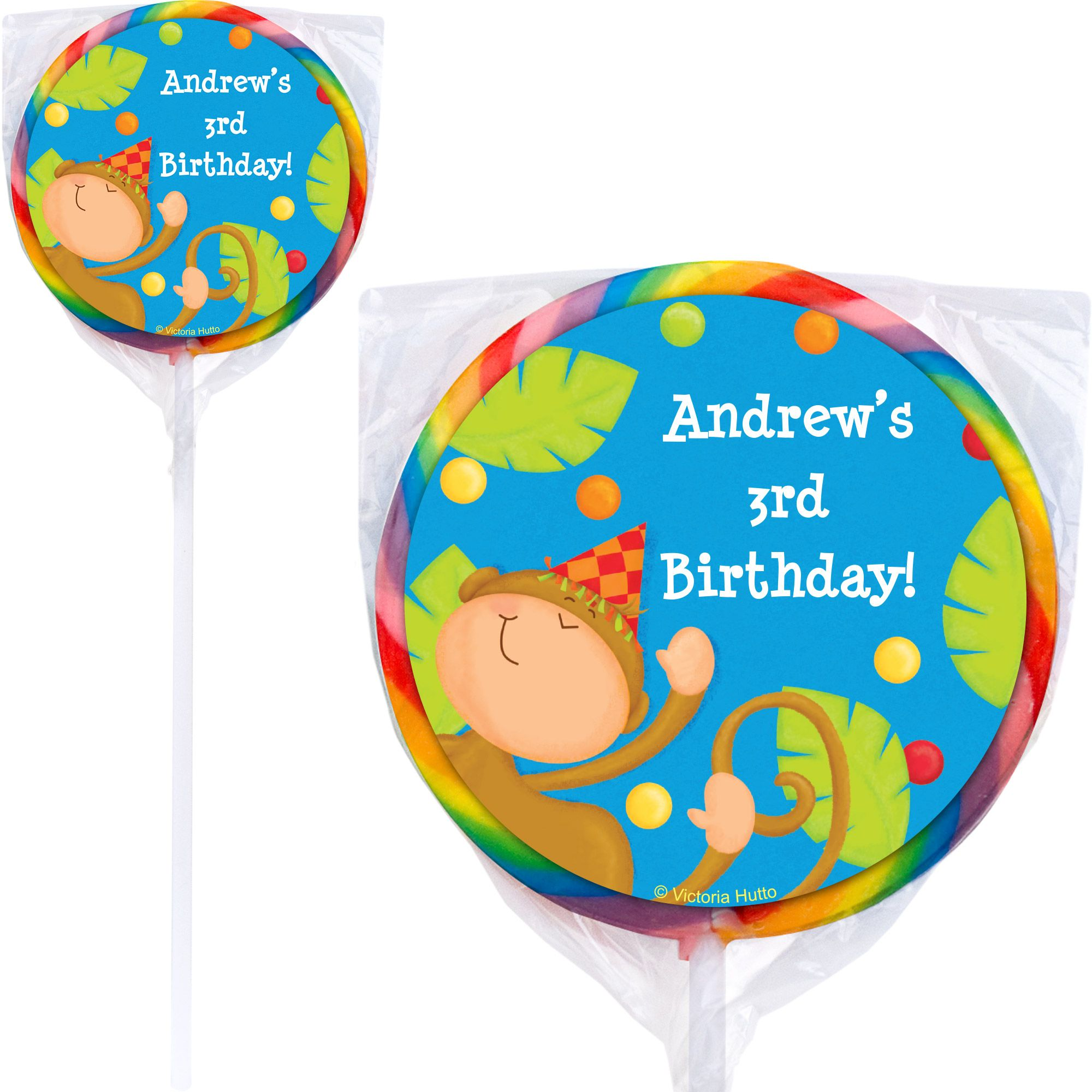 Jungle Birthday Personalized Lollipop (pack of 12) BB101762