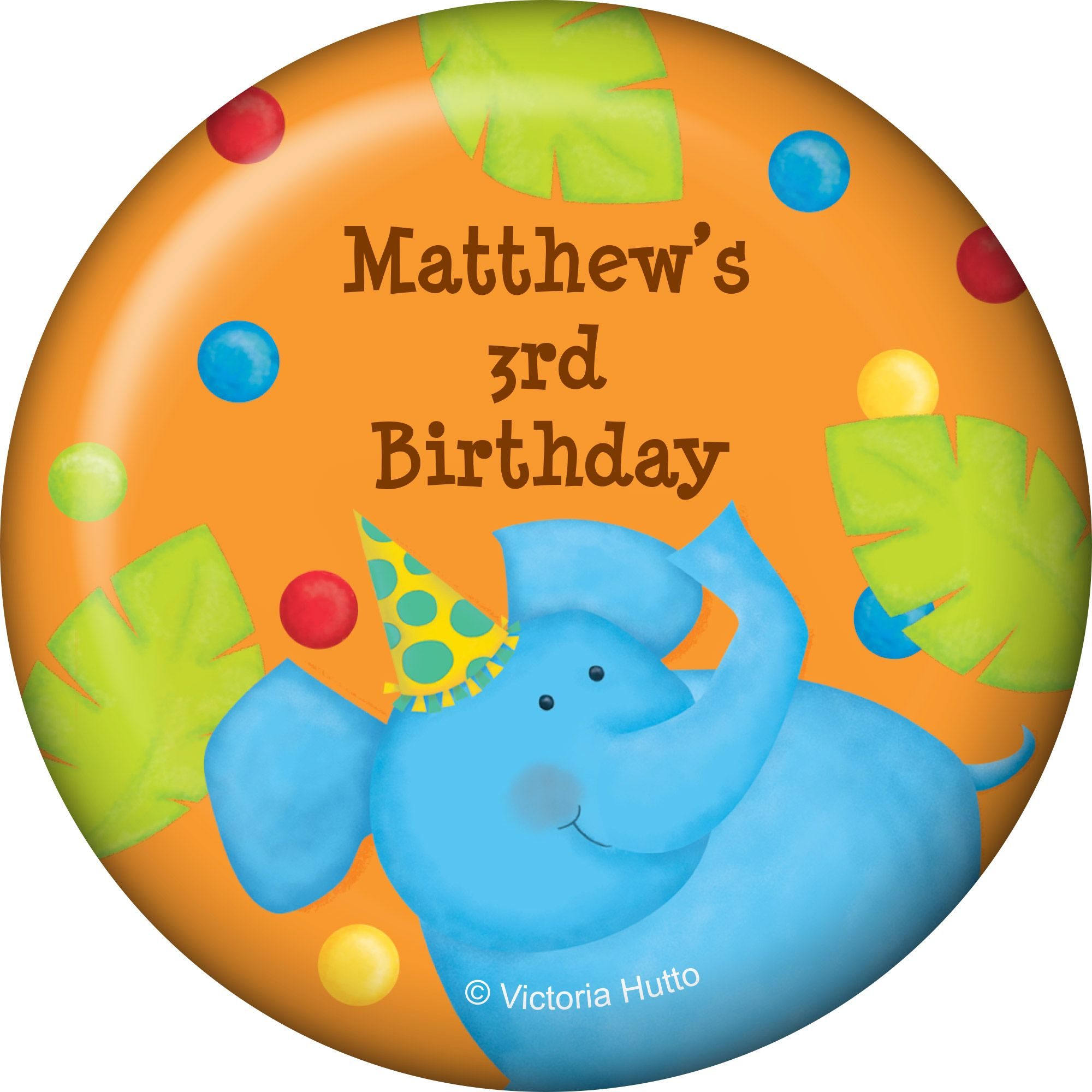 Jungle Birthday Personalized Magnet (Each) BB101765