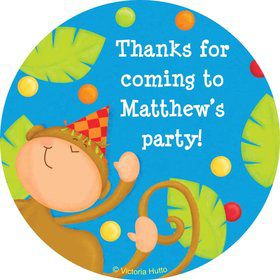 Jungle Birthday Personalized Sticker (sheet of 12)