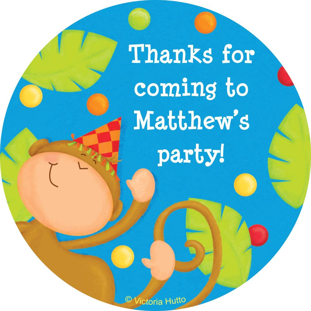 Jungle Birthday Personalized Sticker - Party Supplies BB101761