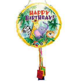 Jungle Friends Birthday Pull String Pinata