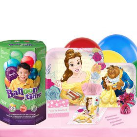 Disney Beauty and the Beast 16 Guest Party Pack - Tableware helium Tank