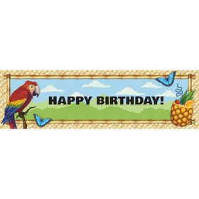 Jungle Party Birthday Banner