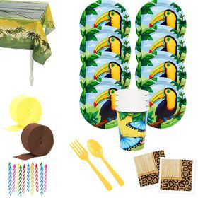 Jungle Party Deluxe Tableware Kit (Serves 8)