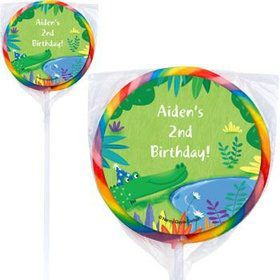 Jungle Party Personalized Lollipops (pack of 12)