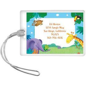Jungle Party Personalized Luggage Tag (each)