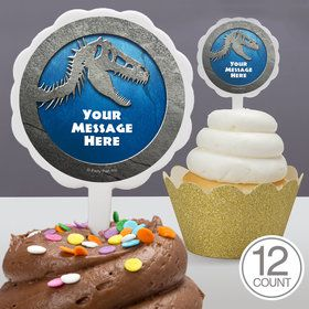 Jurassic Personalized Cupcake Picks (12 Count)