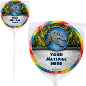 Jurassic Personalized Lollipops (12 Pack)