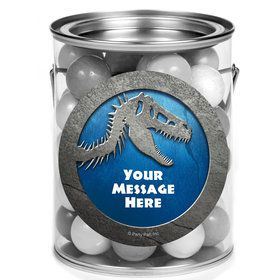 Jurassic Personalized Mini Paint Cans (12 Count)