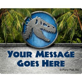 Jurassic Personalized Rectangular Stickers (Sheet of 15)