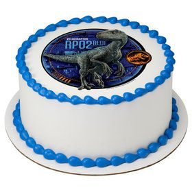 "Jurassic World 2 Blue 7.5"" Round Edible Cake Topper (Each)"