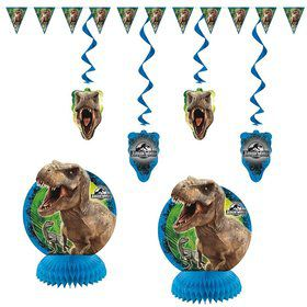 Jurassic World 7 Piece Decoration Set
