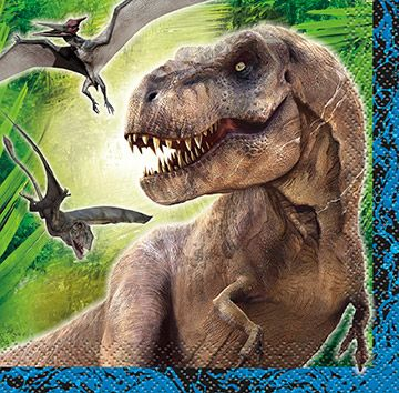 Jurassic World Beverage Napkins (16 Pack) - Party Supplies BB48321
