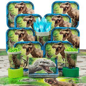 Jurassic World Birthday Party Deluxe Tableware Kit Serves 8