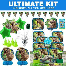 Jurassic World Birthday Party Ultimate Tableware Kit Serves 8