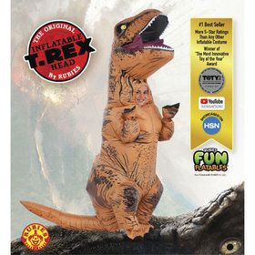 Jurassic World Deluxe Inflatable T-Rex Kids Costume