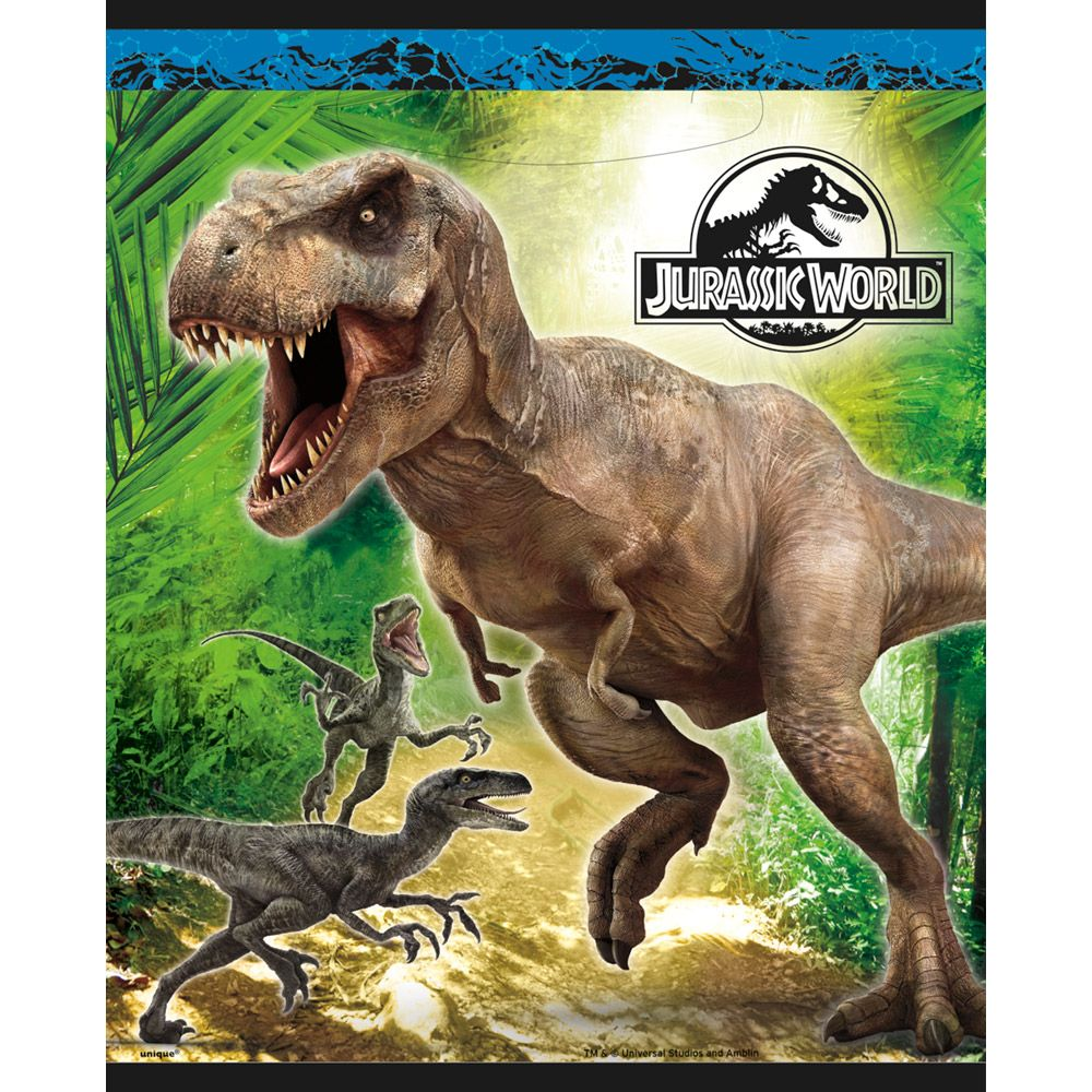 Jurassic World Favor Bags (8 Pack) - Party Supplies BB48333