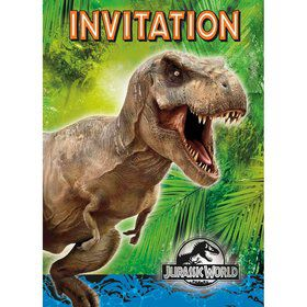 Jurassic World Invitation (8 Pack)