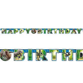 Jurassic World Jointed Happy Birthday Banner