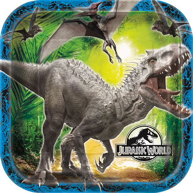 Jurassic World Luncheon Plates (8 Pack) BB48325