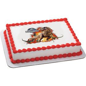 Jurassic World Quarter Sheet Edible Cake Topper (Each)