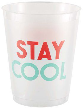 Just Chillin' Frosted Plastic Tumblers (8)